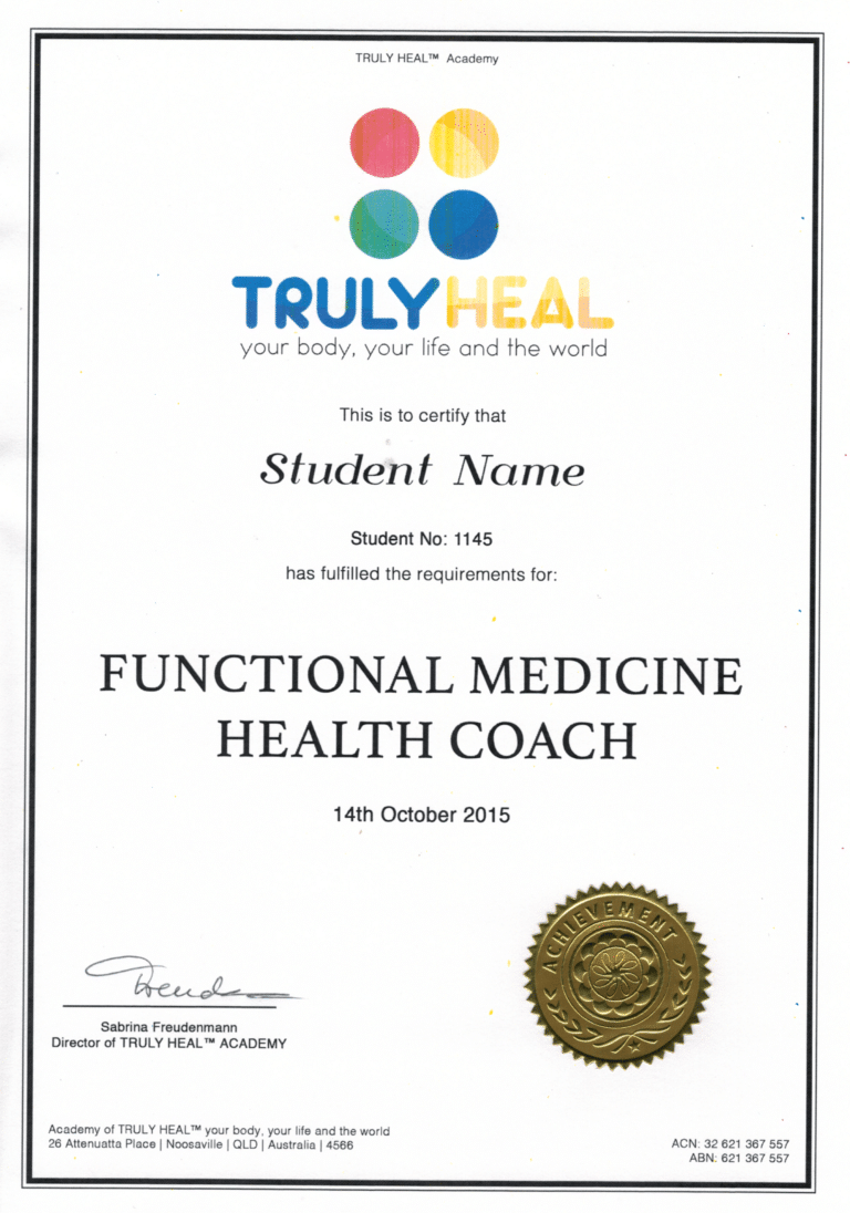 sample of original certificate by trulyheal